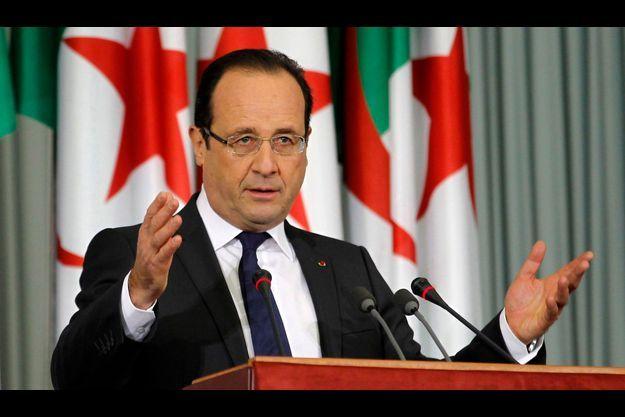 François Hollande au Palais des Nations, jeudi.