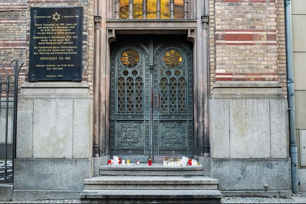 Synagogue de Berlin le 10 octobre 2019.