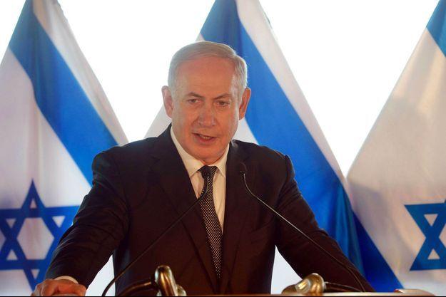 Benjamin Netanyahu lundi 27 juin 2016 lors d'une conférence de presse à Rome.