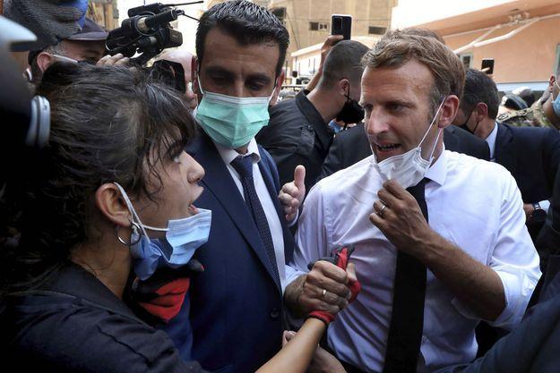 Emmanuel Macron s'est rendu à Beyrouth mercredi dernier.