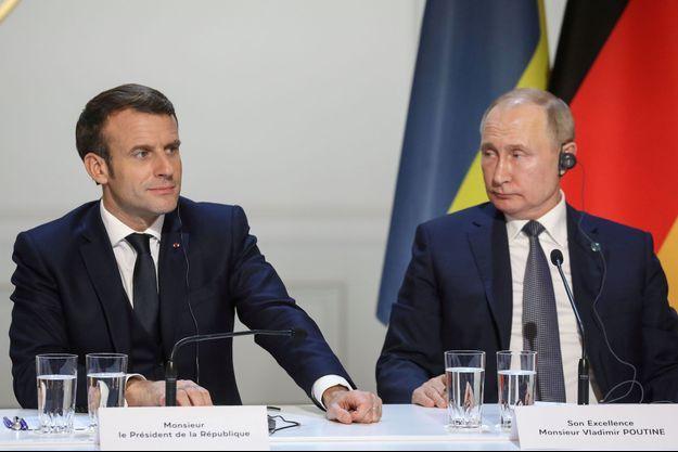 Emmanuel Macron et Vladimir Poutine ont échangé sur la Libye (photo d'illustration).