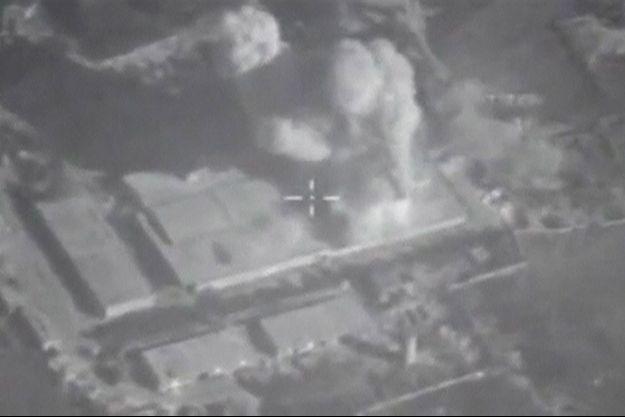 Image d'une frappe russe en Syrie.