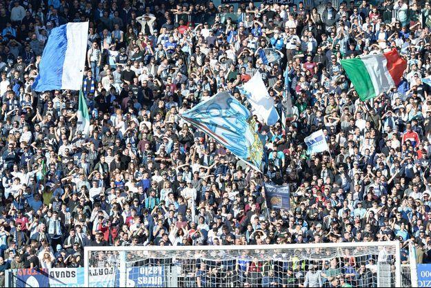 Supporters de la Lazio en décembre 2017