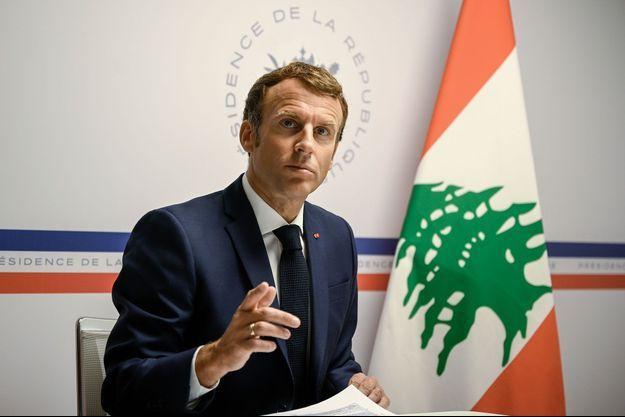 Depuis le fort de Brégançon, Emmanuel Macron participe à la Conférence internationale de soutien à la population libanaise, mercredi.