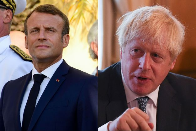 Emmanuel Macron et Boris Johnson.