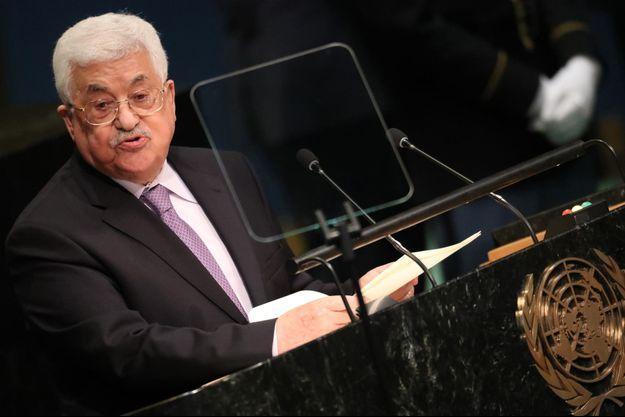 Le président palestinien Mahmoud Abbas à New York, le 22 septembre 2016.