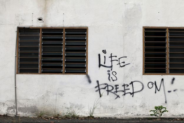 Photo prise à une prison de Kuala Lumpur, en Malaisie.