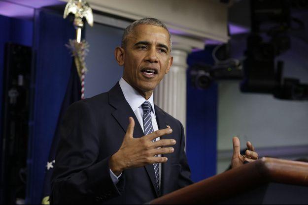 Barack Obama a donné une conférence de presse lundi.