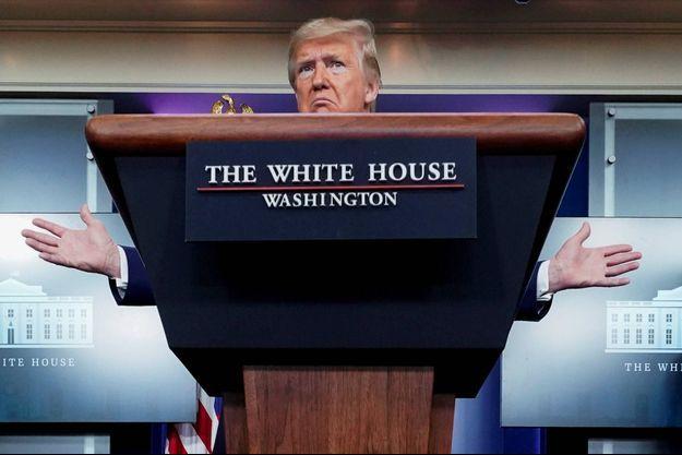 Donald Trump à la Maison-Blanche, le 5 avril 2020.