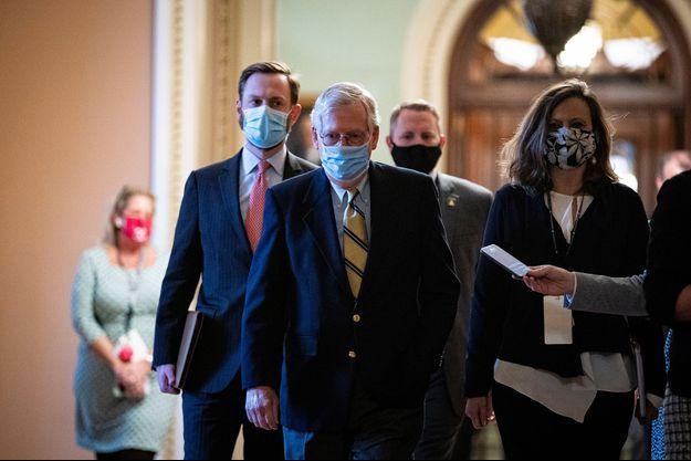 Chef influent des républicain du Sénat, Mitch McConnell n'a pas voté en faveur de la culpabilité de Donald Trump.