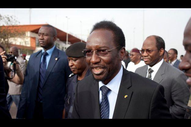 Diouncounda Traore, à son arrivée à l'aéroport de Bamako samedi