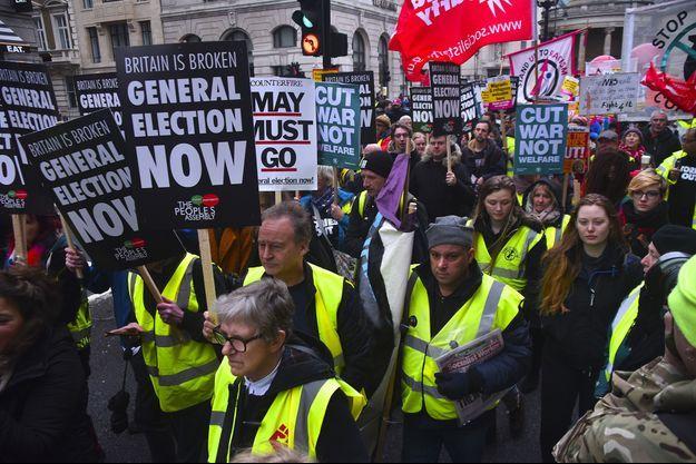 Manifestation à Londres, samedi 12 janvier