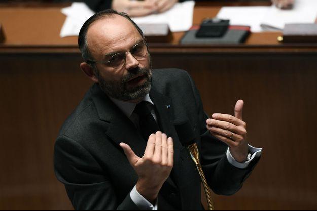 Edouard Philippe lors des questions au gouvernement.