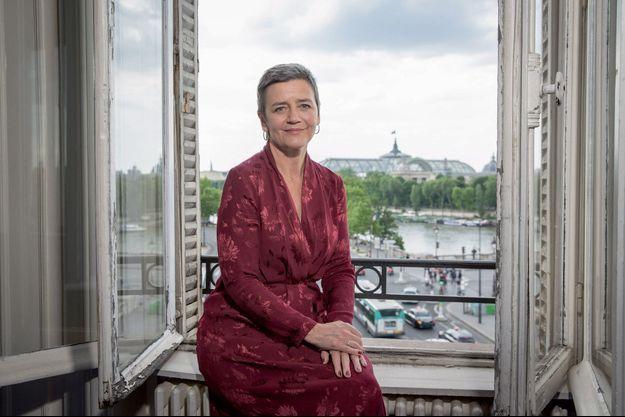 Margrethe Vestager, de passage à Paris le 17 mai.