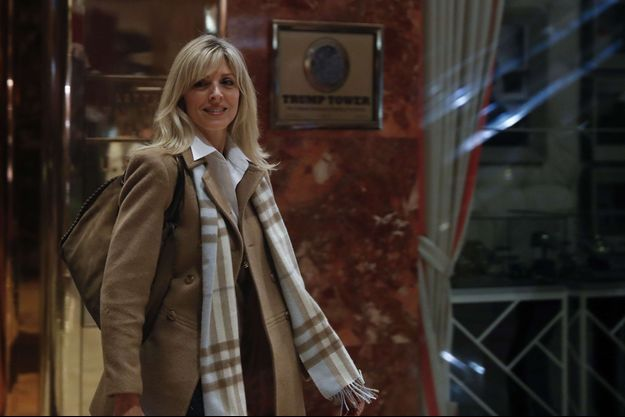 Marla Maples quittant la Trump Tower à New York, le 15 novembre 2016.