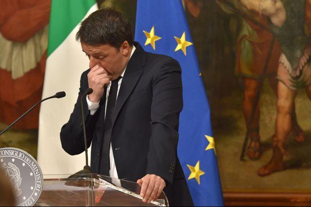 Matteo Renzi annonce sa démission dimanche soir.