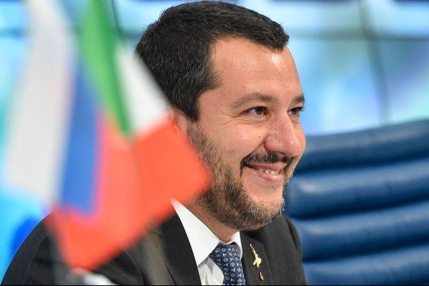 Matteo Salvini à Moscou, le 16 juillet dernier.
