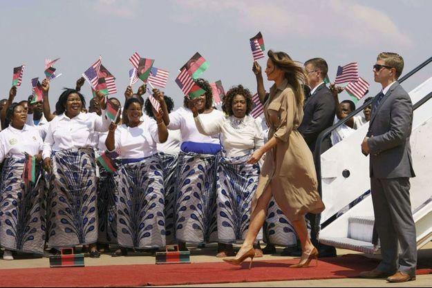 Melania Trump atterrit au Malawi, deuxième étape de son périple africain, jeudi 4 octobre.