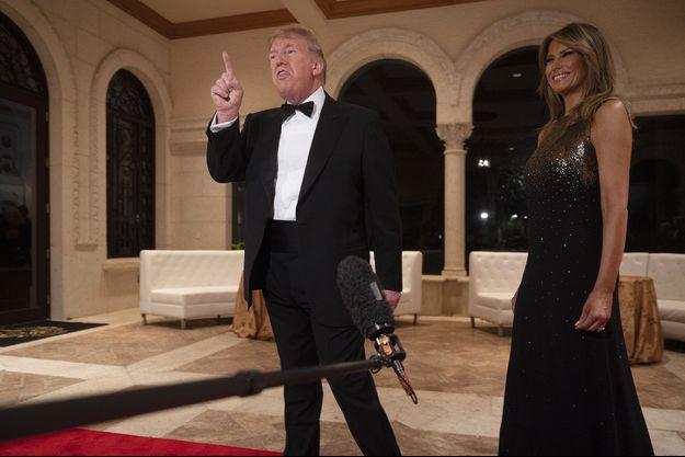 Donald et Melania Trump mardi soir à Mar-a-Lago, la propriété floridienne du président.