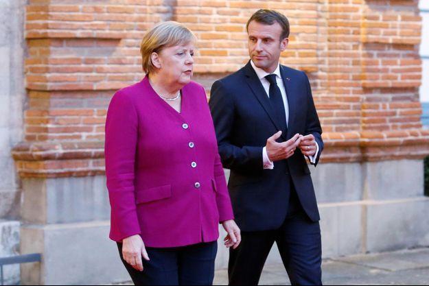 Angela Merkel et Emmanuel Macron, mi-octobre à Toulouse.