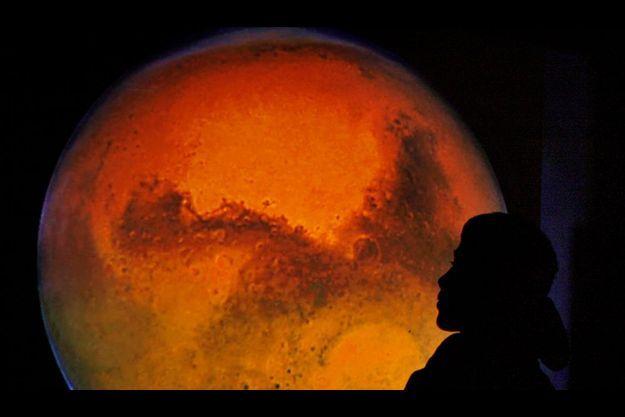 Mars, la planète rouge.