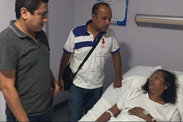 Bernandino Hernandez a été hospitalisé.