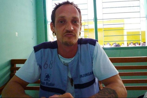 Michaël Blanc dans la prison de Mediun, en 2014.