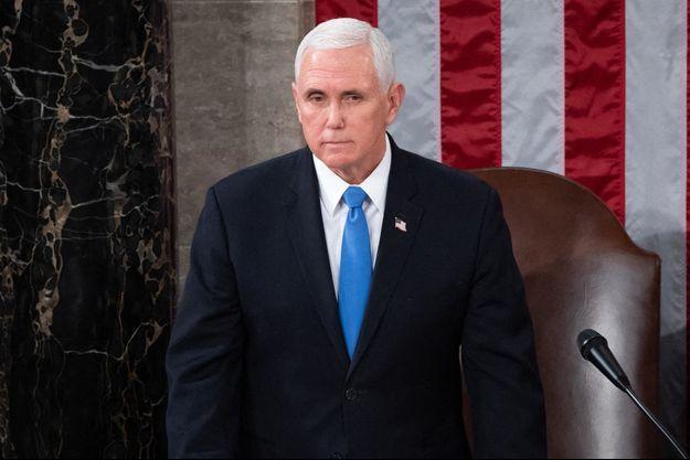 Mike Pence au Congrès à Washington le 6 janvier 2021