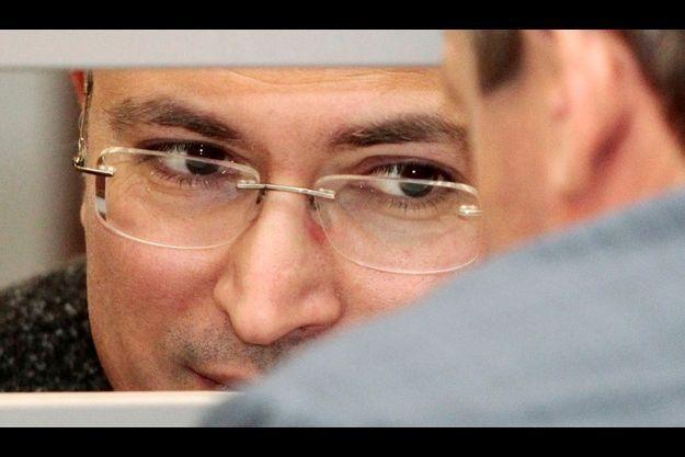 Mikhaïl Khodorkovski devant la Cour suprême russe, le 15 avril dernier.
