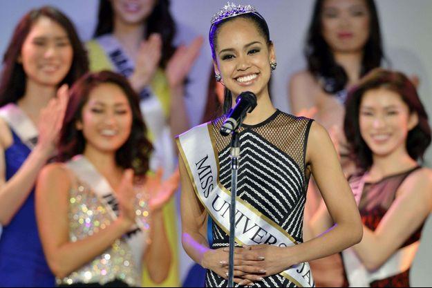 Ariana Miyamoto, Miss Univers Japon, le soir de son élection, le 12 mars dernier.