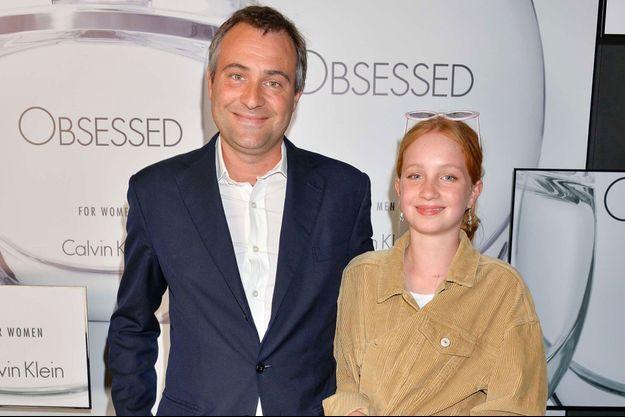 Ben Goldsmith et sa fille Iris en juin 2017 à Londres.