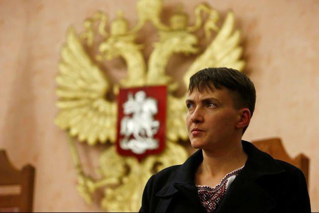 Nadia Savtchenko photographiée au sein de la Cour suprême russe à Moscou, en octobre 2016.