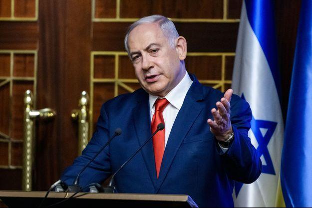 Benjamin Netanyahu à Kiev le 20 août 2019.