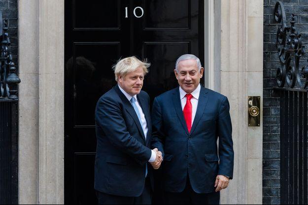 Boris Johnson et Benjamin Netanyahu à Londres en septembre 2019.