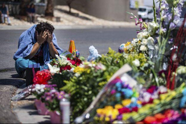La détresse d'un habitant d'El Paso, après la fusillade en août dernier.