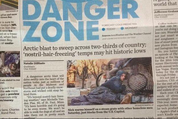 L'article de «USA Today» illustré par la photo de Nicholas.