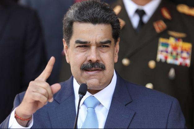 Nicolas Maduro lors d'une conférence de presse à Caracas, le 12 mars 2020.