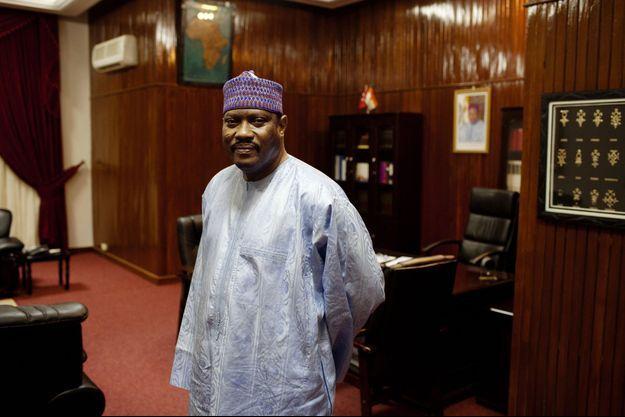 En septembre 2013, Hama Amadou dans son bureau de l'Assemblée nationale du Niger.