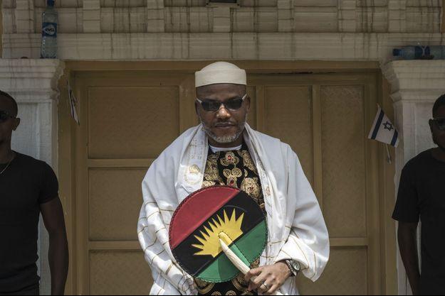 Nnamdi Kanu, leader du Mouvement pour les peuples indigènes du Biafra. Dans sa maison à Umuahia, Nigéria, le 26 mai 2017 avant la commémoration du 50ème anniversaire de la Guerre du Biafra.