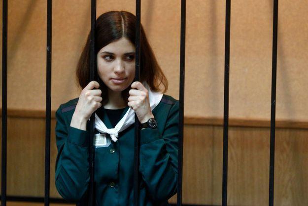 Nadia Tolokonnikova lors d'une audience à Zubova Polyana, en avril dernier.