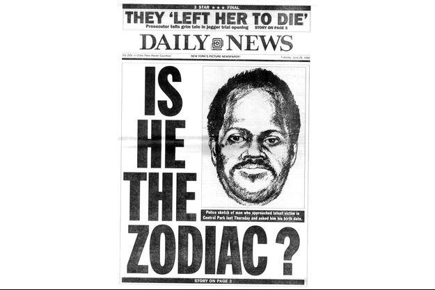 """En 1990, le """"New York Daily News"""" consacrait une Une à l'affaire du Zodiaque."""