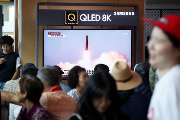 A Séoul, en Corée du Sud, le nouveau tir de missile inquiète la population.