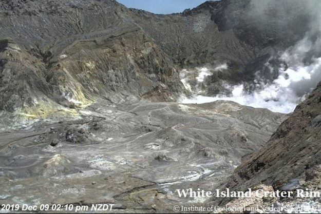 Le volcan White Island, en Nouvelle-Zélande.
