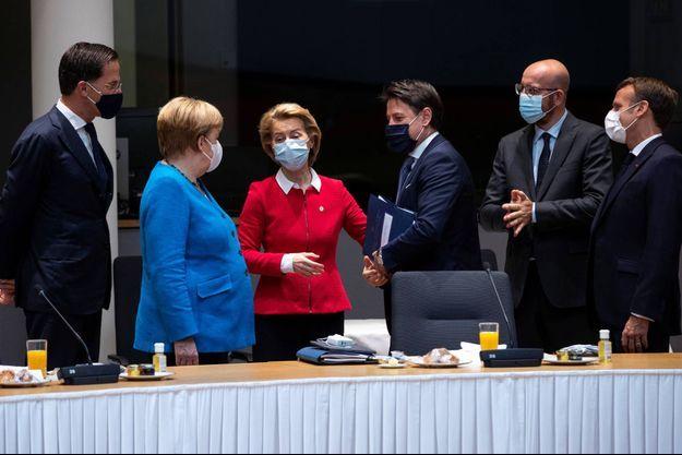 Discussions à Bruxelles, le 18 juillet 2020.