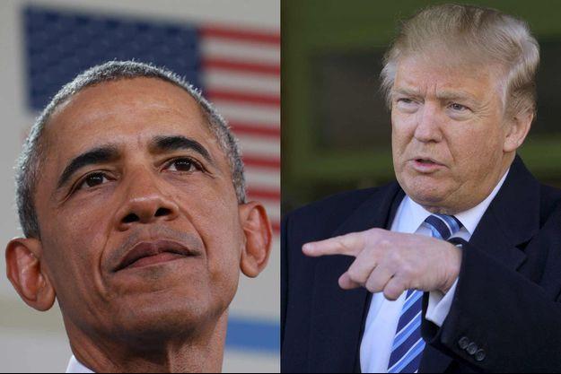 Barack Obama et Donald Trump.