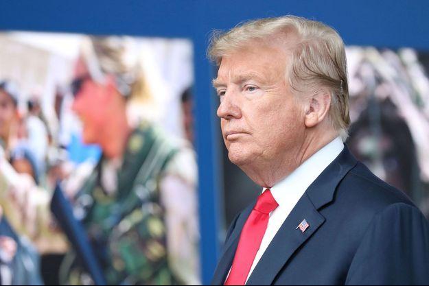 Donald Trump lors du sommet de l'Otan, à Bruxelles mercredi.