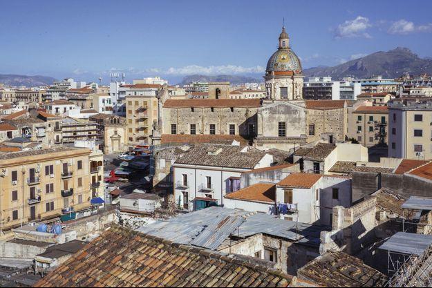 Vue du quartier historique de Ballaro, à Palerme. La mafia nigériane y prospère.