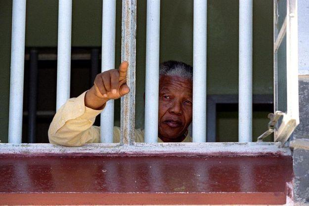 Nelson Mandela, à Robben Island en 1994
