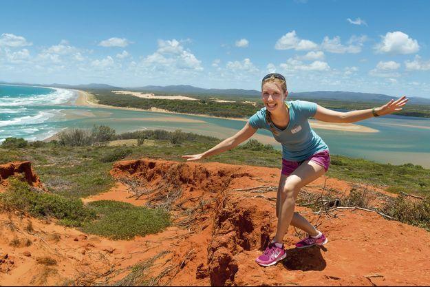Le 19 janvier dans la baie de Bustard sur la dune qui mène à l'unique phare du Queensland, un des plus beaux spots du parc naturel de Eurimbula.