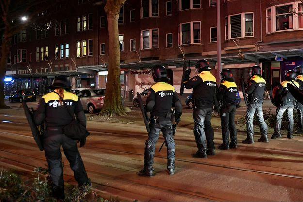 La police à Rotterdam.